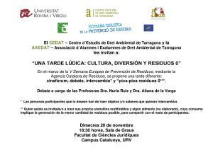 Cartel V Semana Europea de Prevención de Residuos